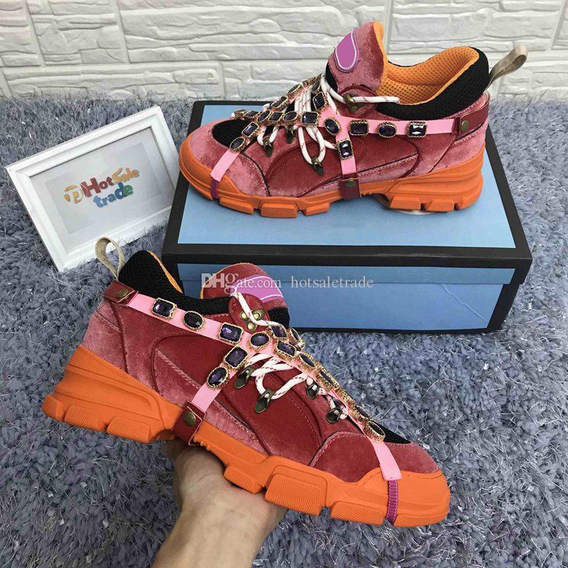 FlashTrek Sneaker с Съемные кристаллами Mens Альпинизм Повседневная обувь Мужчины Женская мода Классический Роскошная обувь