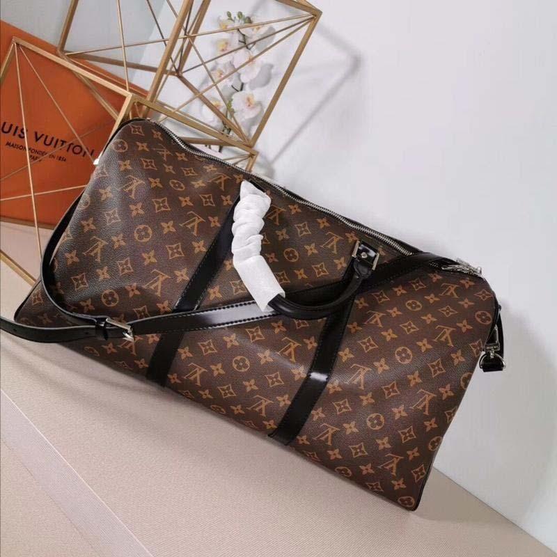 2020 новая роскошная дизайнерская дорожная сумка из кожи и холста Luxury Fashion Designer Travel Bag Fashion Print M44645 A123