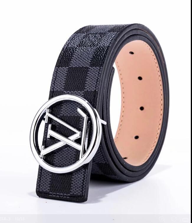 2020 nuevo diseñador de la correa de la hebilla del cinturón de correa de cuero de alta calidad hombres y mujeres de lujo para los hombres libres del envío