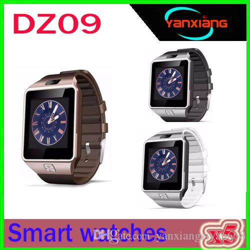 Original DZ09 Smart watch Bluetooth Wearable Devices Smartwatch For iPhone Android Phone Watch With Camera Clock SIM/TF Slot ZY-DZ-9
