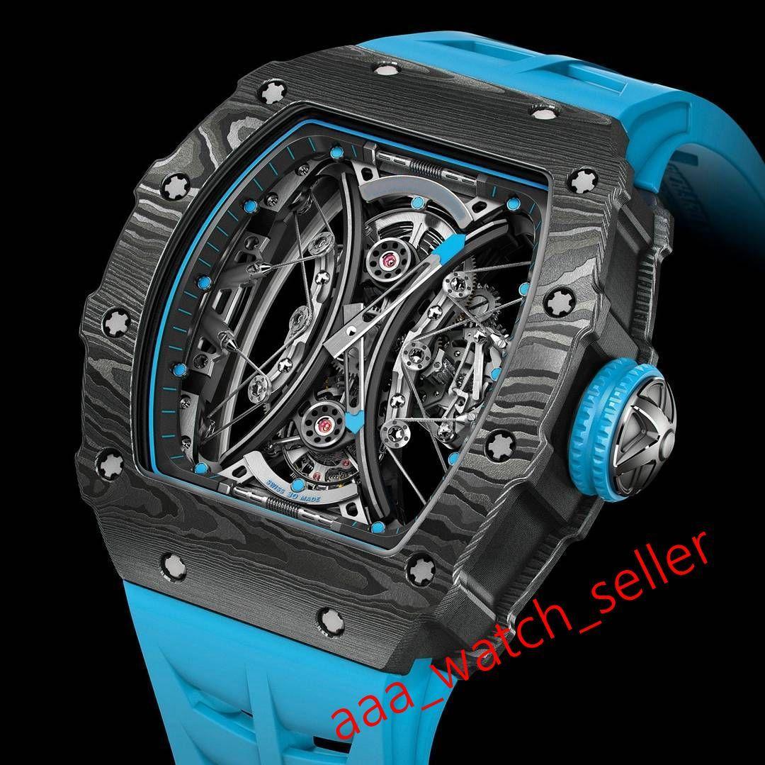 12 стилей высочайшее качество роскошные мужские часы RM53-01 Outdoorworked Tourbillon Pablo Mac DONOW OP TPT Carbon WatchCase автоматическое наручные часы