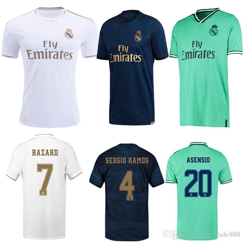 Real Madrid soccer jerseys 2019 2020 HAZARD football shirt home away 3RD camisa de futebol 19 20 JOVIC ASENSIO football uniforms kids kit