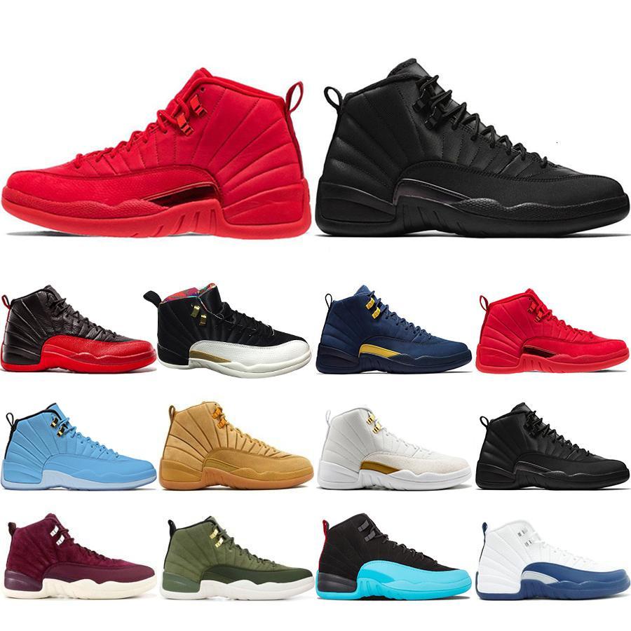 2019 Nuevos 12 12s zapatos de baloncesto para los toros de lana Hombre CNY Michigan Wntr Gimnasio Rojo NYC XII diseñador de zapatos para hombre de las zapatillas de deporte entrenadores deportivos