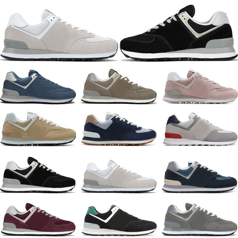 2020 New trainers 574 mens running shoes Classics Navy Marbled Street Grey pink Burgundy womens fashion sports sneakers outdoor size 36-44