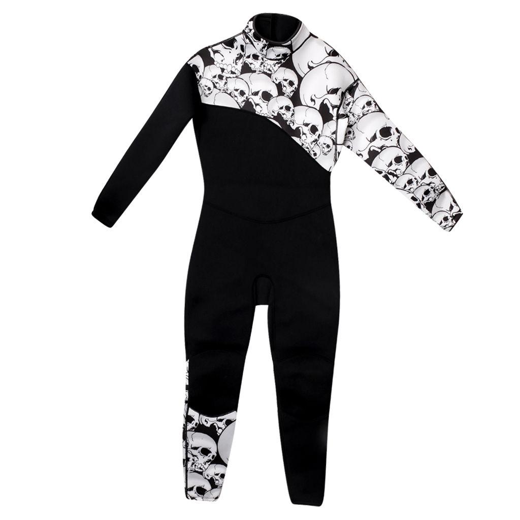 Siyah Kafatası Dalgıç Mens 3mm Tam Swim Suit Sörf Suit Tüplü Dalış Şnorkel Suits Jumpsuit