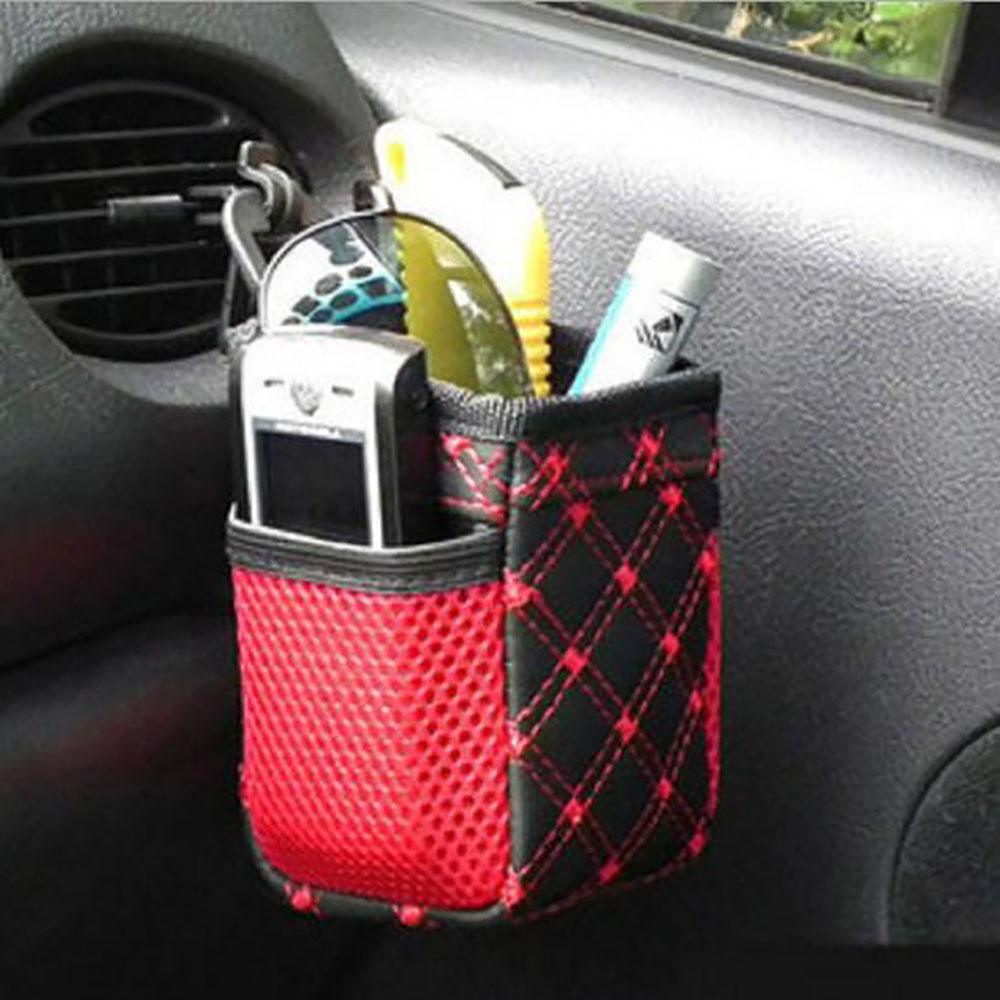 Multifuncional aire del coche de la salida de ventilación de bolsillo organizador de las misceláneas de la bolsa de comestibles Buggy caso de la bolsa de transporte automático de almacenamiento de soporte withHook