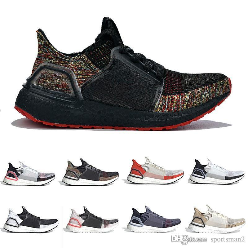 2019 Adidas Ultra Boost Ultra 19 Hombres Mujeres Zapatos casuales Ultra 5.0 Laser Rojo Dark Pixel Core Negro Ultras Sport Sneaker Cheap