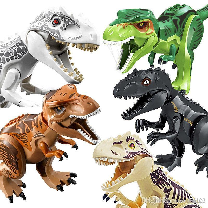 الجوراسي ديناصور diy تجميع اللبنات دينو اللعب الجوراسي طوب العالم عيد الميلاد هدية التعليمية legoings لعبة