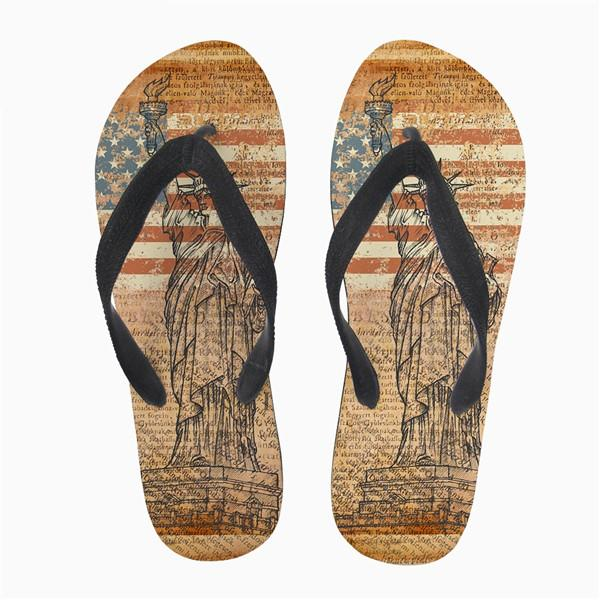 Customized Summer Style Women Flip Flops 3D Eiffel Tower Printed Fashion Women's Home Slippers Woman Flats Slip-on Shoes t10