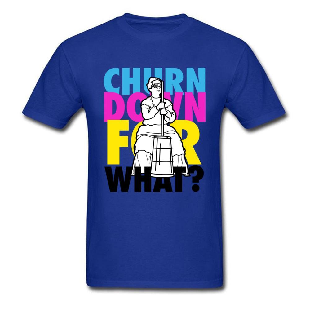 Street Style Tops cotone 100% della maglietta degli uomini migliori magliette churn Giù per quali gruppi Hip Hop Lettera maglietta Hipster Tees blu