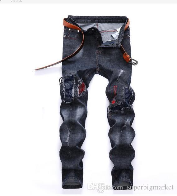 2019 nouvelle arrivée! Automne et hiver nouvelle locomotive pour hommes Europe et États-Unis tendance jeans commerce extérieur pour hommes ..