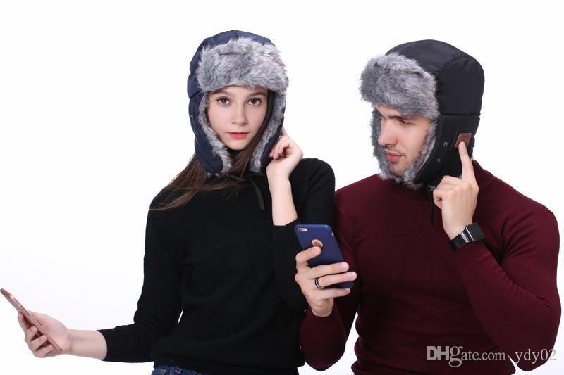 Cap Bluetooth caliente de alta calidad de Invierno Esquí gorra de Bluetooth Smart Wireless auriculares sombrero Dropship 171.220 envío de DHL