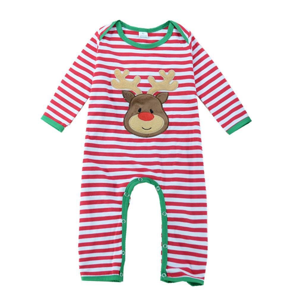 UK Infant Xmas Baby Girl Boy Kid Christmas Romper Bodysuit Shirt Holiday Clothes