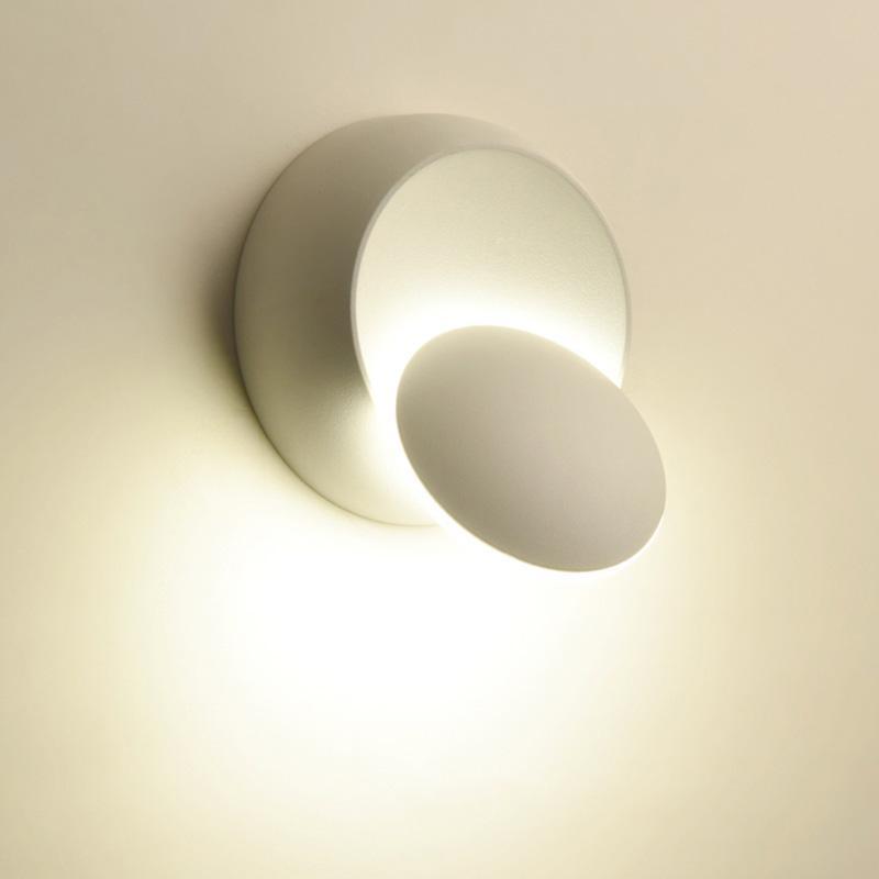 Lámpara lateral de la cama de decoración para el dormitorio Loft Sconce Light Ajustable 360 giratable para las luces de la pared del interior de la pared del interior 6W