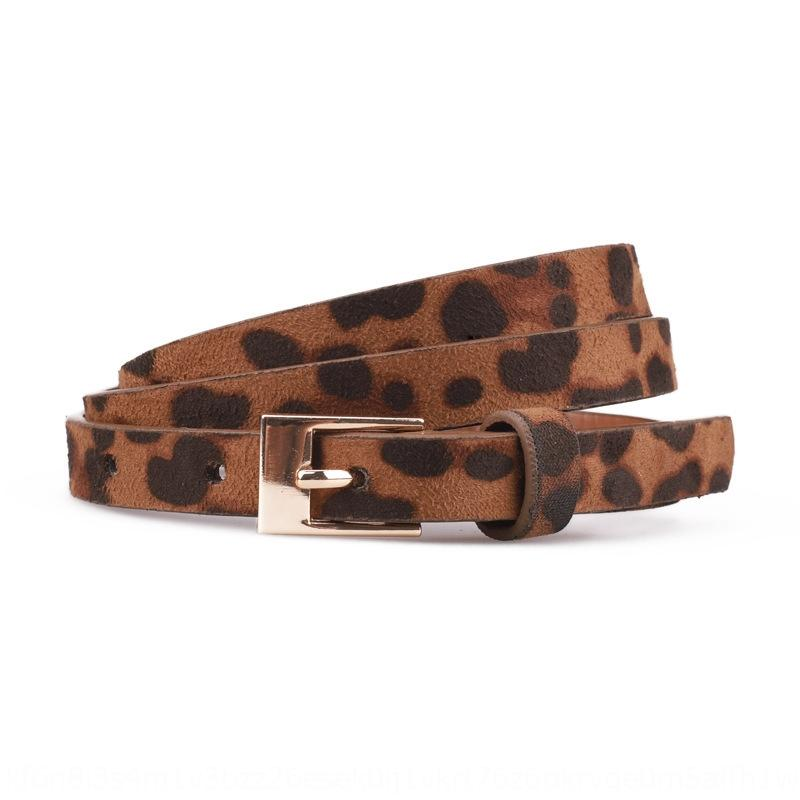 1U8Lv Moda com estampa de leopardo decorativo Pu all-jogo pin Moda com estampa de leopardo cinto fino decorativo de camurça fina feminina casuais camurça Pi ocasional