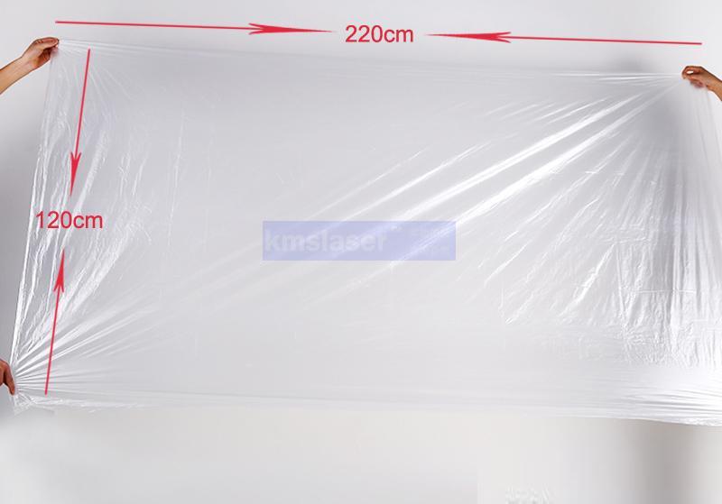 Foglio di plastica per il Body Wrap 120 * 220 centimetri / Da utilizzare insieme con la sauna coperta per mantenere la pelle da direttamente con la sauna coperta