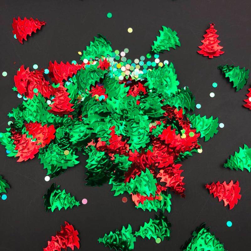Decoración de Navidad copos de nieve de las lentejuelas de visualización Cumpleaños plásticos Partes