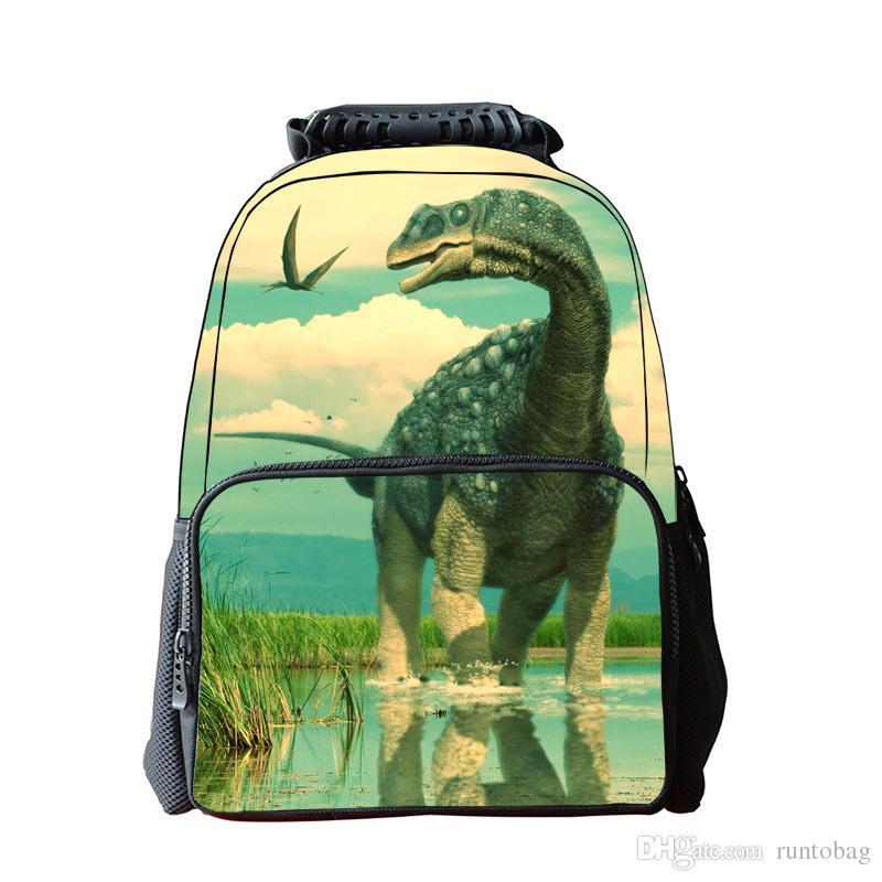 New 3D Printing Jurassic Dinosaurs Girls Boys School Backpack Kids School Bag