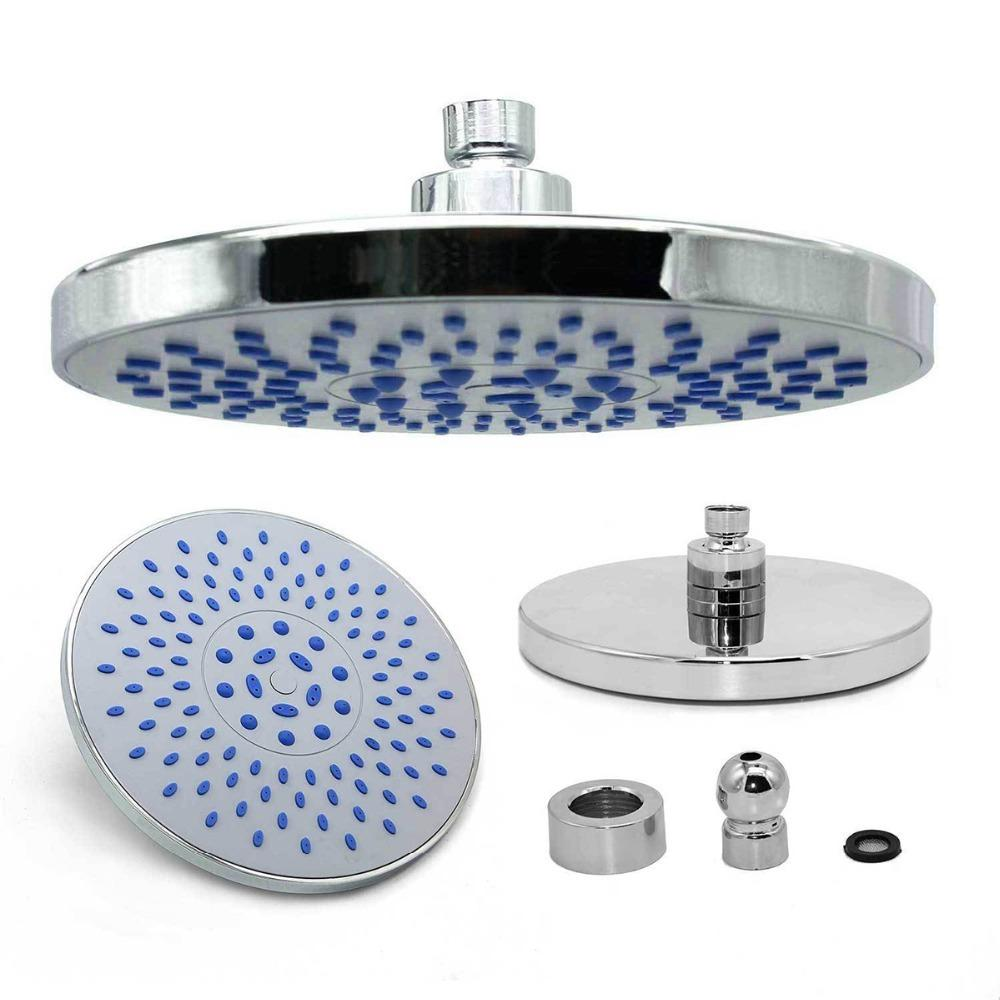 "8"" Round Overhead Fixed Rainfall Shower Head Swivel Waterfall Bath Sprayer Faucet Bathroom Tool Decor"