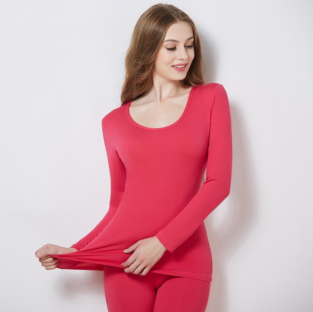 Autumn Thermal Underwears Women Breathable Warm Long Johns Ladies Slim Underwears Sets