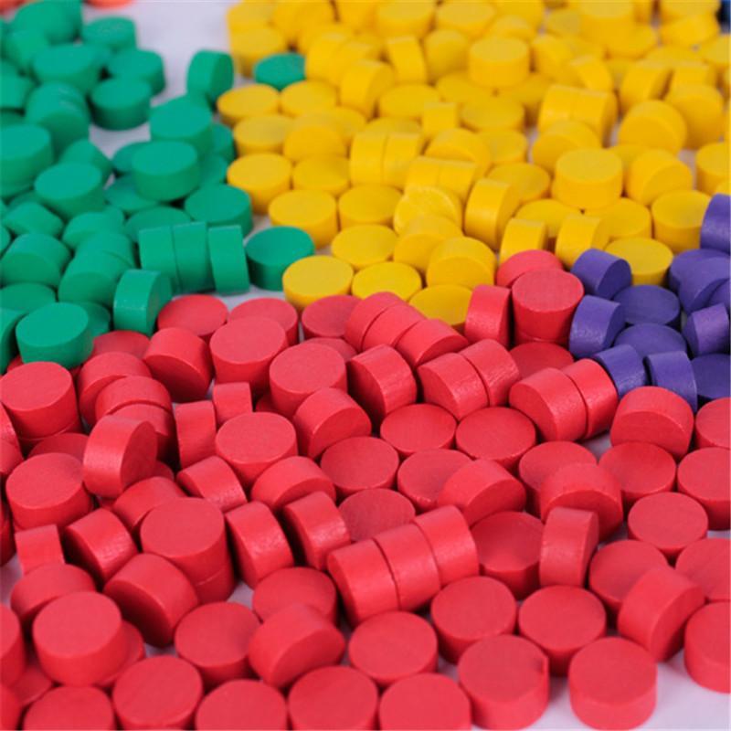 2019 nova 80Pcs Diâmetro 10 * 5MM 8 cores Peão de madeira Pawn colorido Jogo Pieces / Jogo de xadrez Para Board / Jogos Educacionais Acessórios