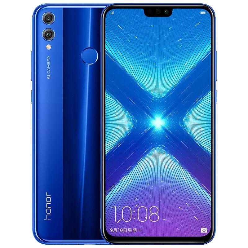 Original Huawei Honor 8X 4G LTE Cell Phone 6GB RAM 64GB 128GB ROM Kirin 710 Ocra Core Android 6.5 inches 20.0MP Fingerprint ID Mobile Phone