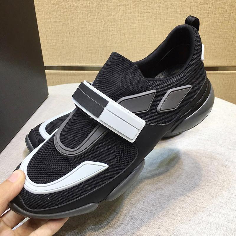 Prada New New Mens chegada Shoes Scarpe Sportive Da Uomo clássico Vintage Gancho laço Esportes Casual Shoes Cloudbust Técnico Tecido Sapatilhas