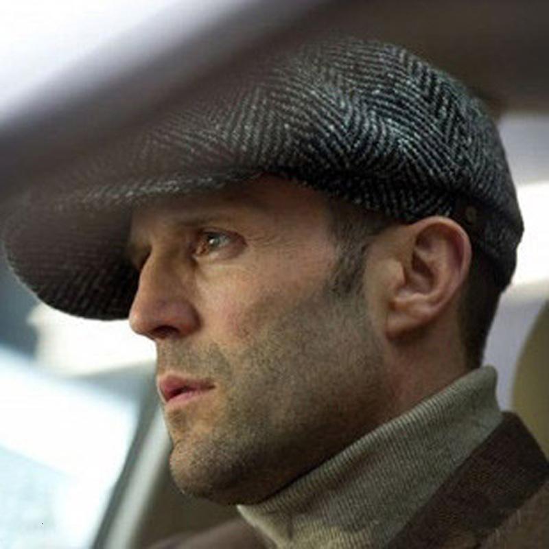 Cap pour les hommes nouveaux Newsboy Caps Movie Star Rétro conduite Hommes Laine Polaires Chapeau Hommes d'automne chapeaux d'hiver Taille 60 SH190921