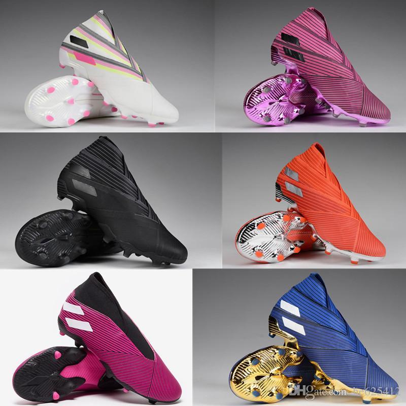 Adidas Gioventù Nemeziz 19+ FG Scarpe da calcio 302 Redirect pacchetto Script scuro cablati tacchetti da calcio interno di gioco polarizzare confezione Ragazzi Shoes