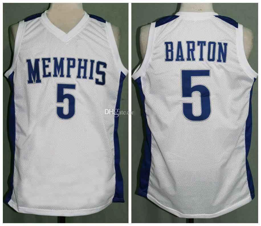 Università RETRO di tigri Will Barton # 5 Retro Jersey di pallacanestro degli uomini di cucito su misura Numero Nome maglie