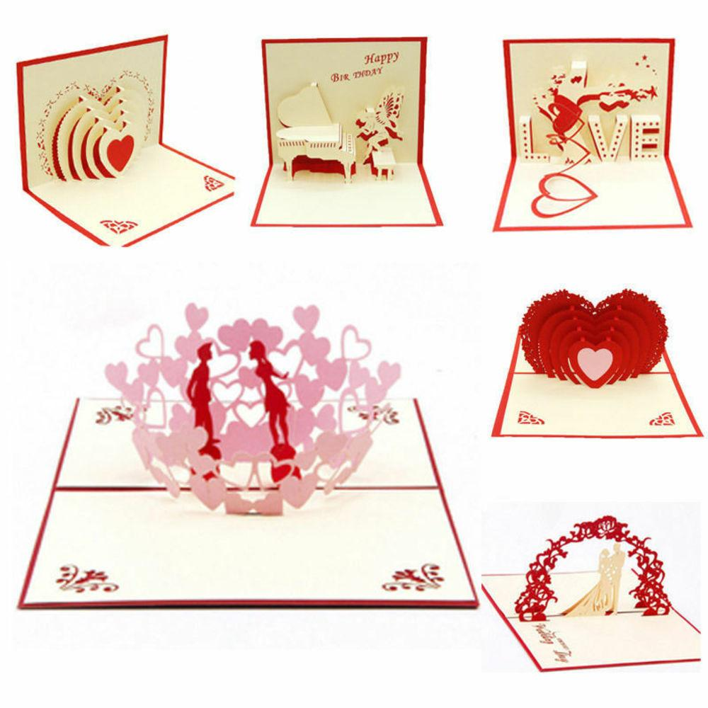 3d Diy Creative Wedding Invitation Cards 3d Up Greeting Card Handmade Engagement Valentines Anniversary Day Gift Happy Card Online Free Christmas