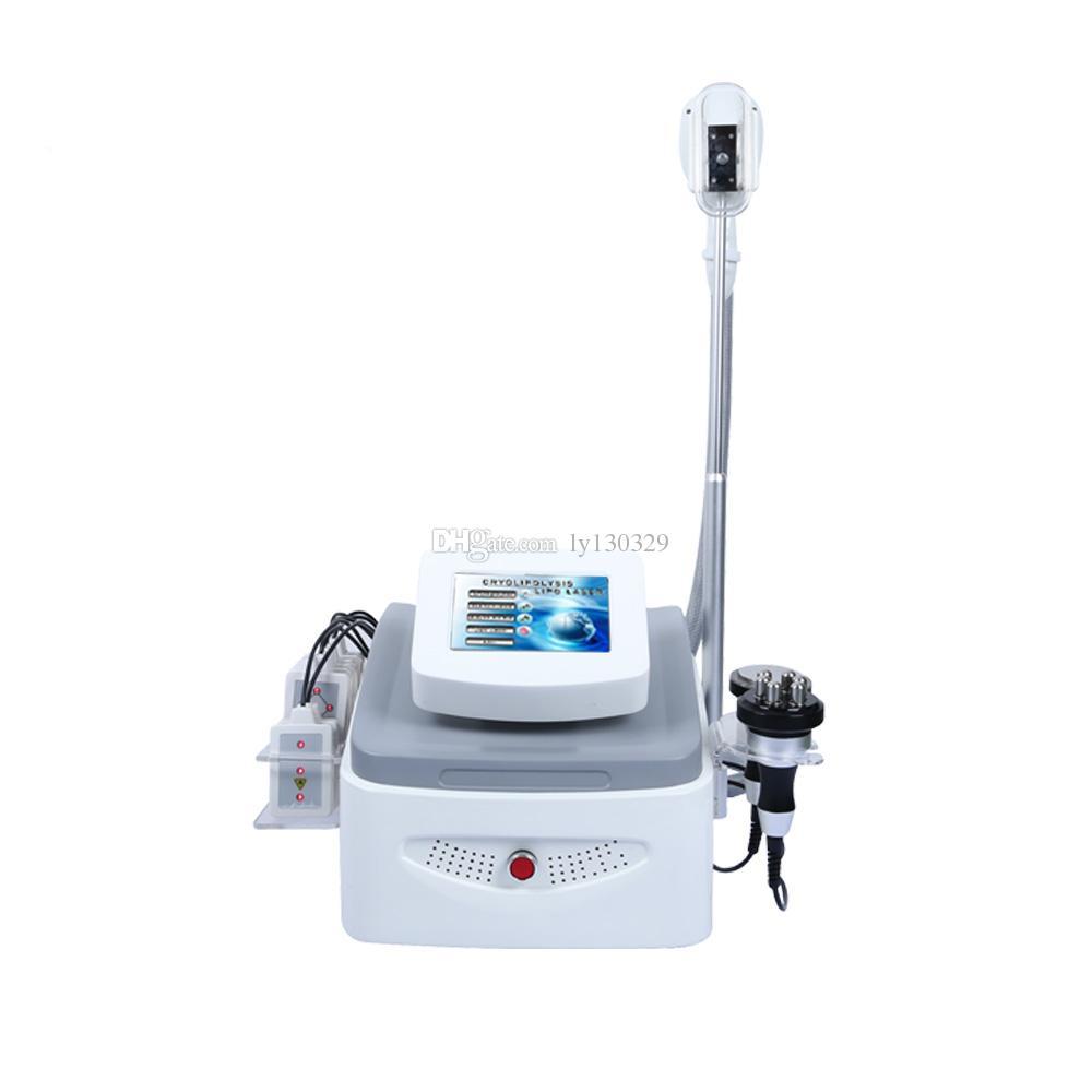 4 en 1 cavitación grasa rf lipo máquina Cryolipolysis láser crioterapia máquina de congelación