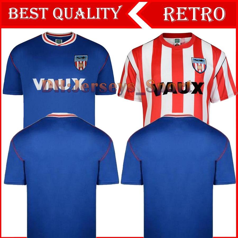 1990 Sunderland camisola retro de futebol Início distância 90 91 Sunderland Michael Gray Eric Portões clássico do vintage camisas uniformes jérsei homens de futebol