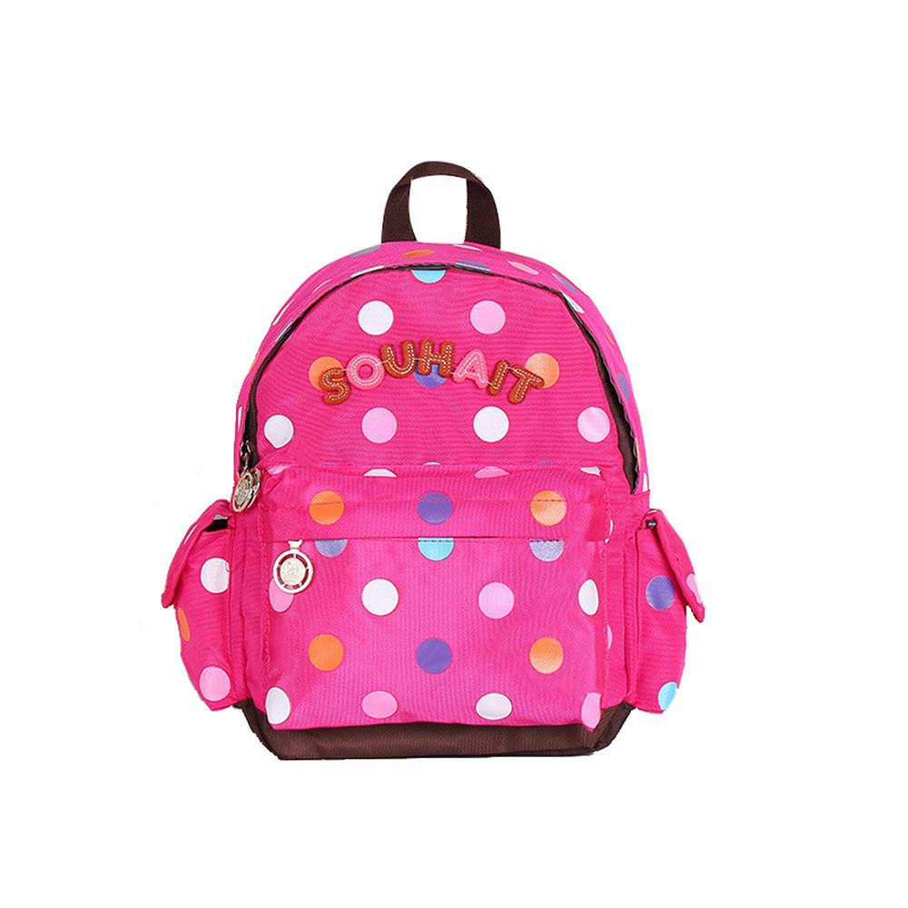3-6 Yıl Kız Anaokulu Çocuk Schoolbag Prenses Bow Karikatür Sırt Çantası Bebek Kız Okul Çantası Çocuk Çantası Bebek Sırt Çantası S200107