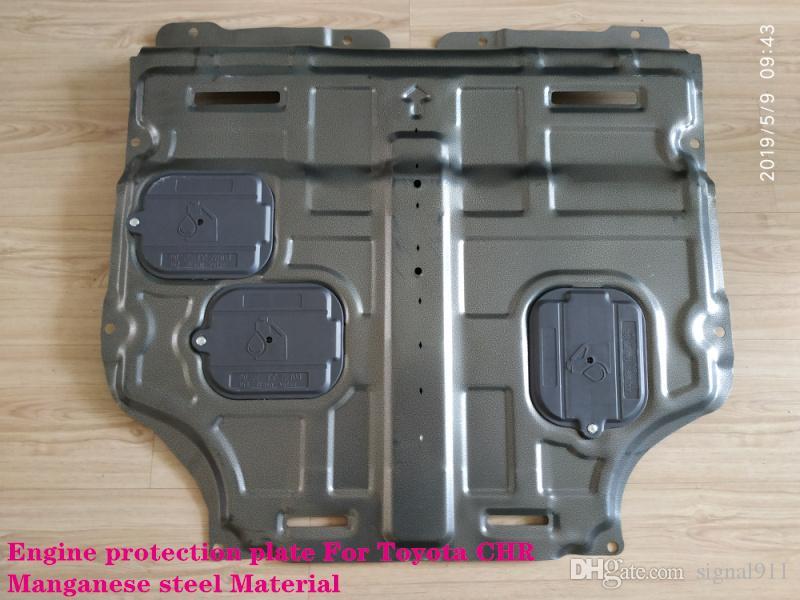 Protector del motor del coche de acero al manganeso de alta calidad, placa antideslizante, panel inferior del motor, placa de protección del motor para Toyota CHR C-HR 2.0L 2016-2018