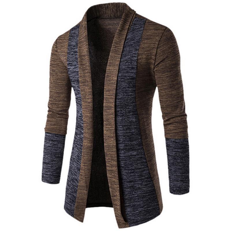 Otoño Clásico Cuff Hit colores de los hombres de suéteres de alta calidad Cardigan capa ocasional de 2018 nuevos hombres suéteres de los géneros de punto