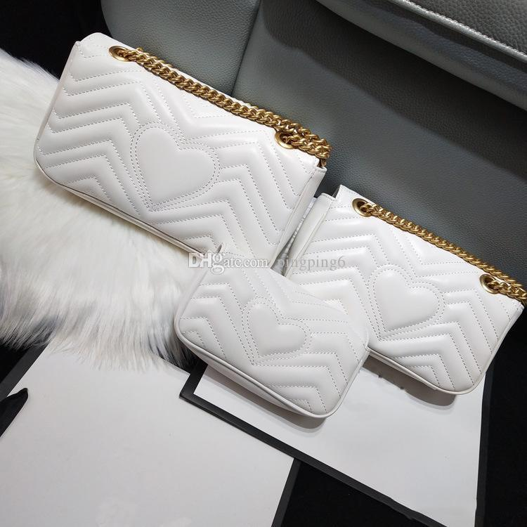 freeship ysiykiy Mulheres Marmont saco de luxo designer bolsas bolsas de couro macio com sacos de ombro das senhoras do coração V Ondas, Crossbody Bag