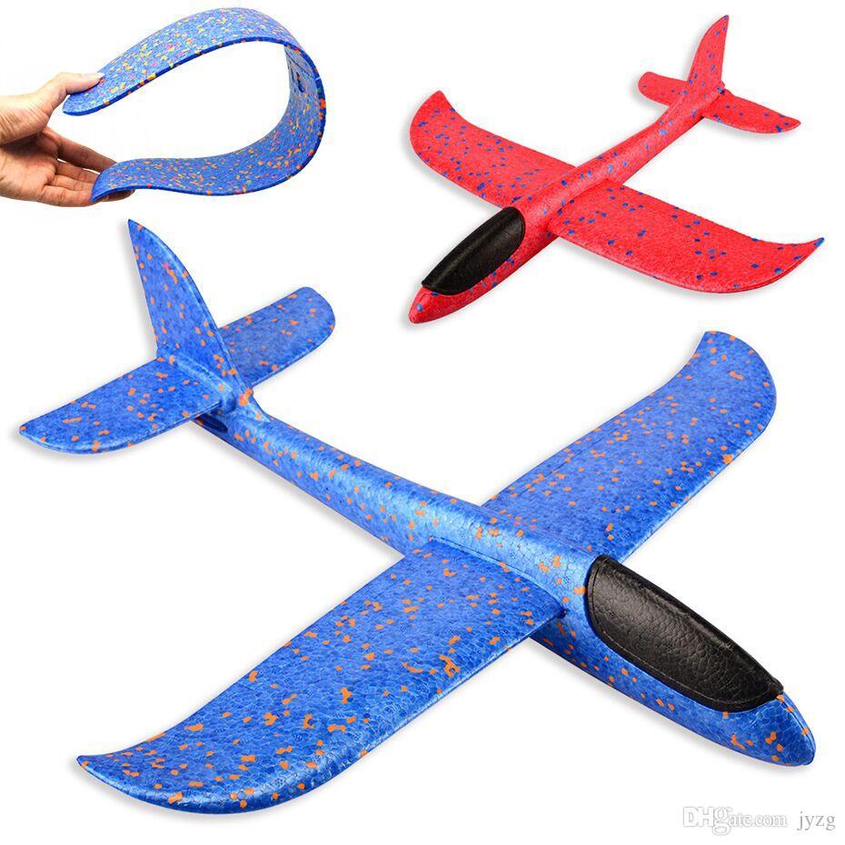 EPP 거품 손 던져 비행기 야외 발사 글라이더 비행기 아이 선물 장난감 48 센치 메터 재미있는 장난감 무료 배송