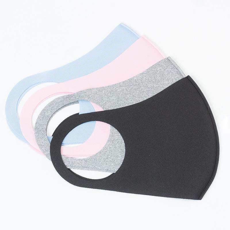 Anti-Polvo facial Boca cubierta Adultos Niños PM2.5 Máscara Diseñador respirador a prueba de polvo anti-bacterianas Máscaras reutilizable lavable hielo de seda