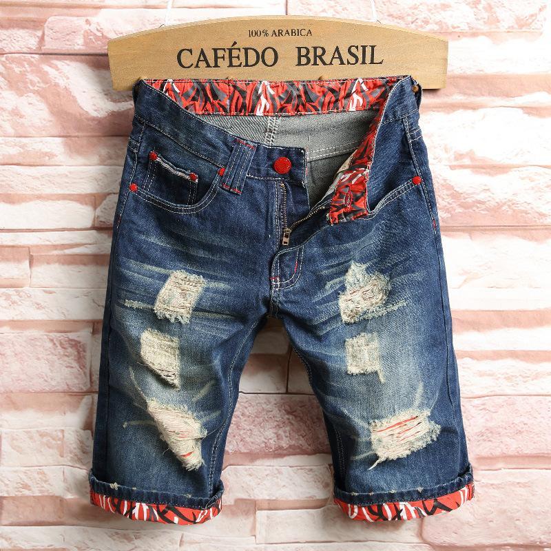 Mode für Männer Plus Size Freizeit tragen männlich Cartoon Metrosexuell Cartoon Shorts Beggar Jeans-Shorts