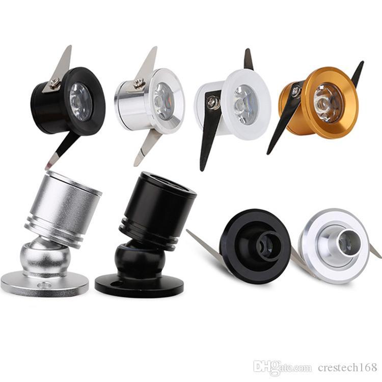 AC85-265V LED Vitrin Mini LED Spotlight Takı sayacı ışık 1W evrensel şarap dolabı teşhir dolabı ışıkları dönen ışıklar