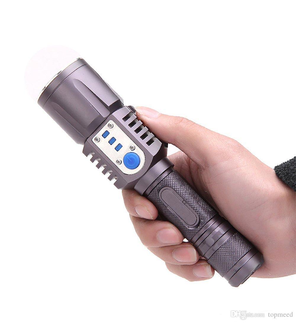 Hot Rechargeable USB led Flashlight XM-L2 Lantern High Power Torch 3800 lumen Zoomable Flash light lantern Tactical bike