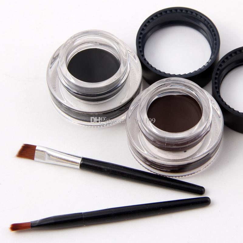 DHL free shipping Miss Rose Cosmetic Eyeliner Cream Best Makeup for Women Eye Liner Double eyeliner Cream with brush