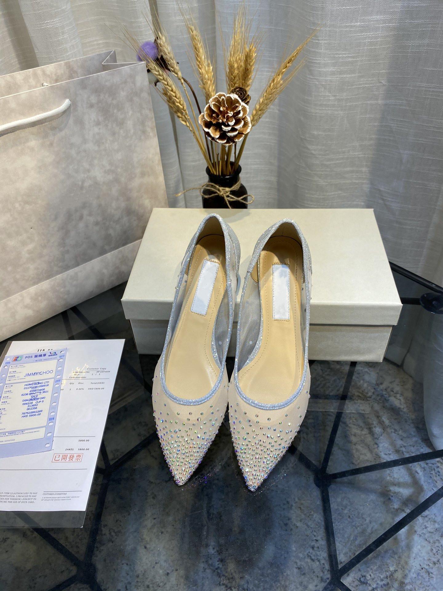 Yaz 2020 yeni stil üst seviye kalite mizaç bayan koyun derisi flaş matkap topuk tek ayakkabı sandalet 105563