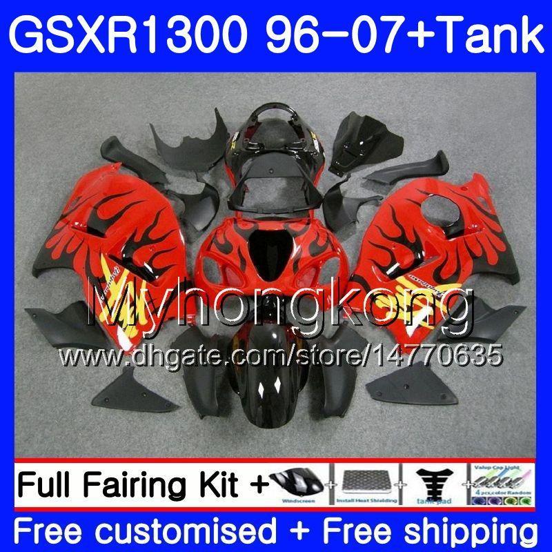 +Tank For SUZUKI GSXR-1300 GSXR1300 96 97 98 99 00 01 333HM.103 Hayabusa GSXR Top Stock red 1300 1996 1997 1998 1999 2000 2001 2007 Fairings