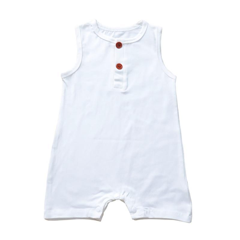 WEIXINBUY estate del bambino vestiti infante appena nato del neonato Dinosaur pagliaccetto vestiti senza maniche estate Outfit