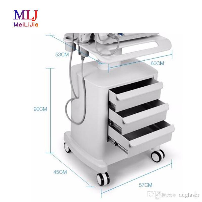 Máquina Carrito para productos / Carro para ruedas portátil con tres cajones reales y rueda de orientación para el hogar y el salón de belleza