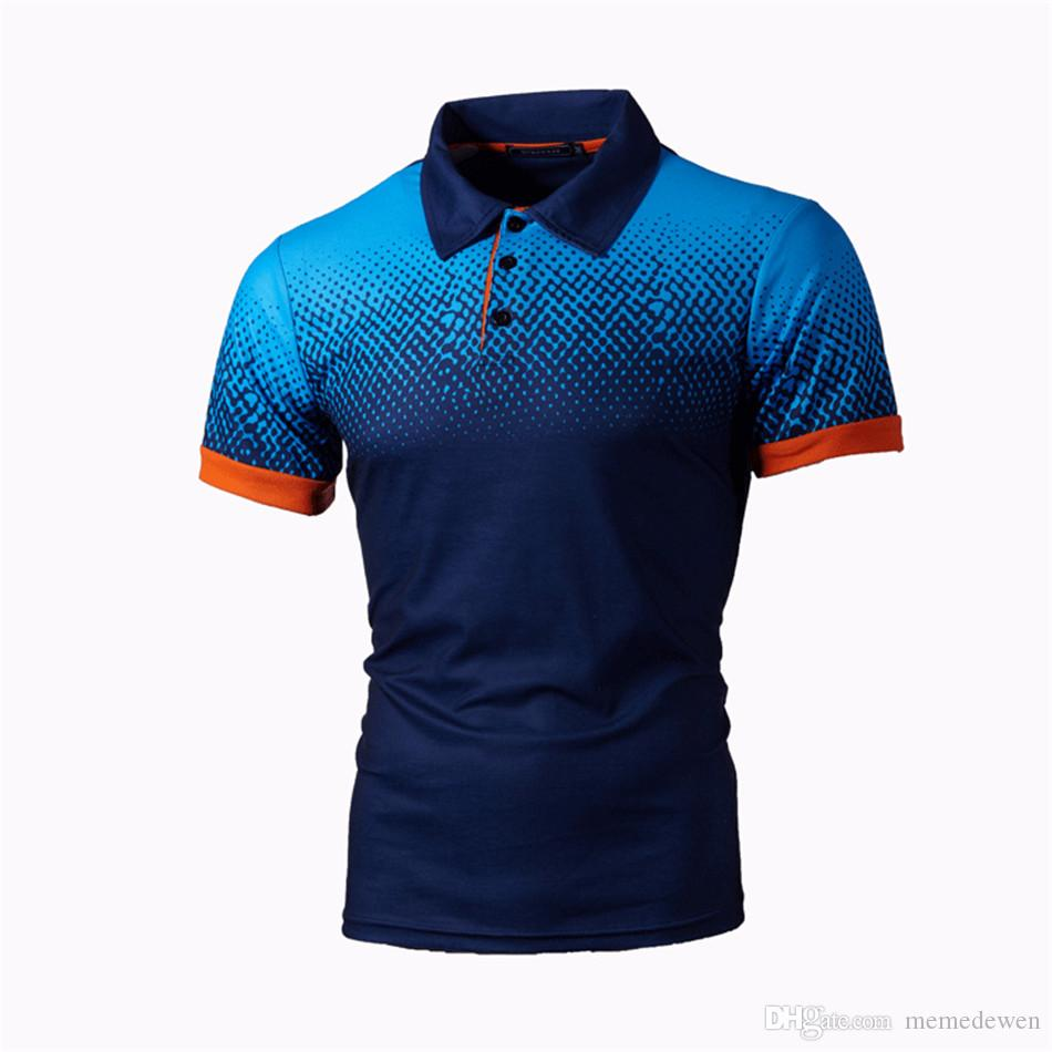 Mens Casual Slim Fit Polos Short Sleeves Polo Shirts