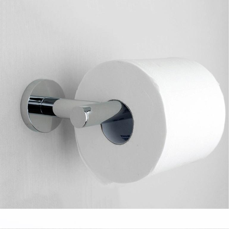 SOLID BRASS CHROME FINISHED WALL MOUNTED TOILET ROLL HOLDER BATHROOM ACCESSORY