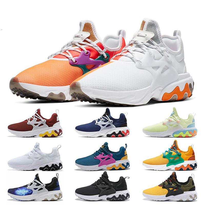 Vigas X Reagir Presto Dharma Mulheres Homens Running Shoes Proteção de Testemunhas Mal Volt Rabid Panda Triplo Preto Vermelho Nik Reage Trainers Sneakers